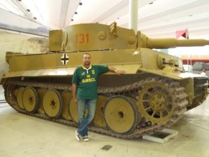 With the Tiger I at Bovington