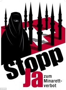 The striking poster that was used in the anti-minaret campaign. Kudos to the artist.